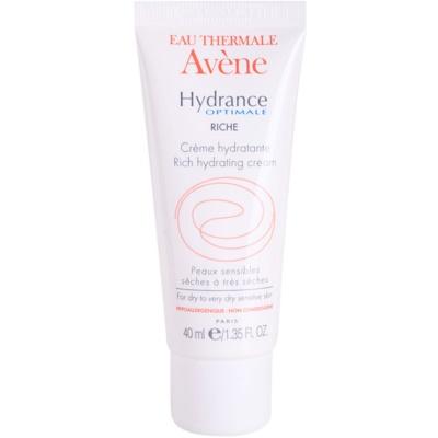 Avène Hydrance feuchtigkeitsspendende Creme für trockene und sehr trockene Haut