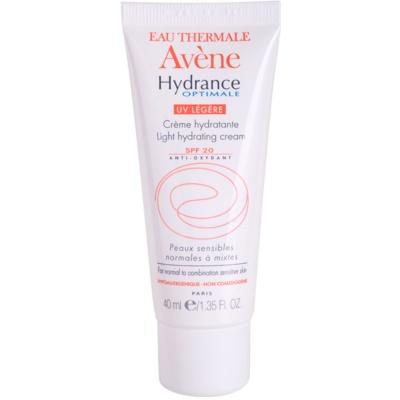 Avène Hydrance crema hidratante para pieles normales y mixtas SPF 20