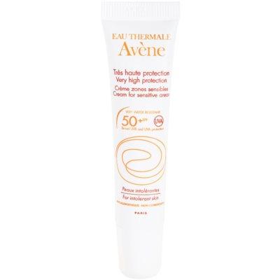 parfümfreie Schutzcreme für empfindliche Stellen ohne chemische Filter SPF 50+