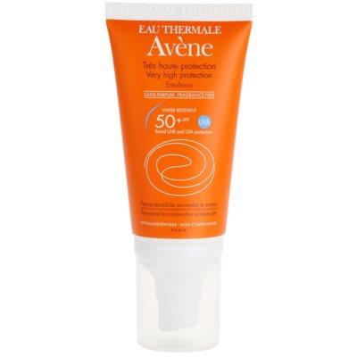 emulze na opalování bez parfemace SPF 50+