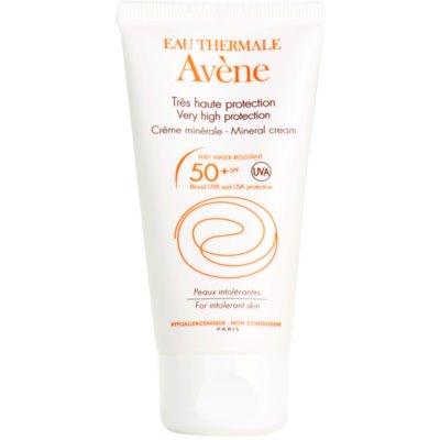 Avène Sun Mineral creme protetor de rosto sem quimicos e perfume SPF 50+