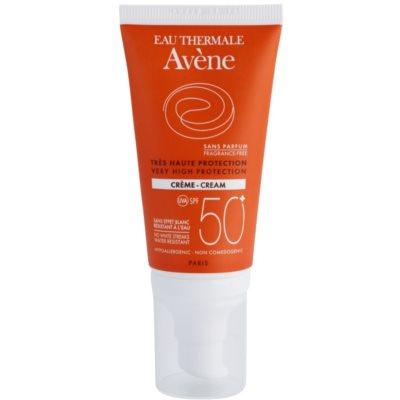 Avène Sun Sensitive слънцезащитен крем  SPF 50+ без парфюм