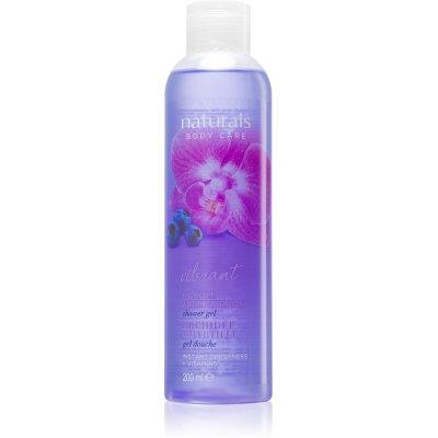 gel de duche com orquídea e mirtilo
