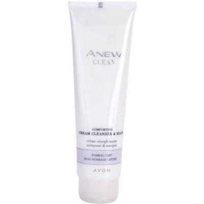 masque et gel purifiant et apaisant en crème pour peaux normales et sèches