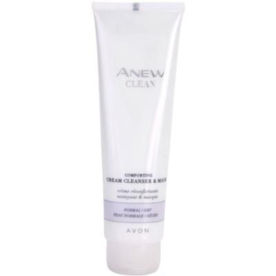 beruhigendes Creme-Reinigungsgel und Maske für normale und trockene Haut