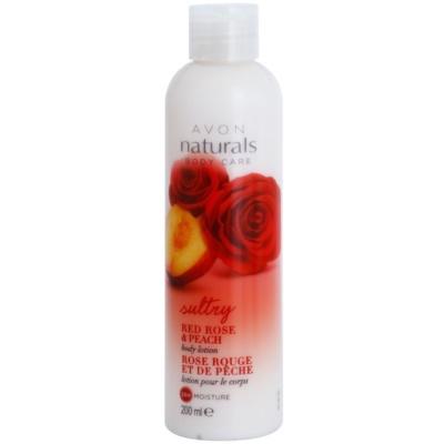 hydratační tělové mléko s červenou růží a broskví