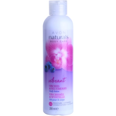 Avon Naturals Body mleczko do ciała z orchideą i jagodą