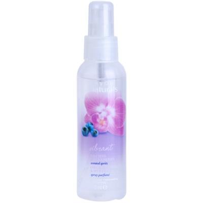 telový sprej s orchideou a čučoriedkou