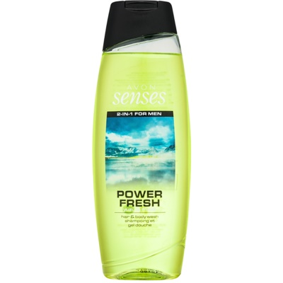 Avon Senses Power Fresh Shower Gel And Shampoo 2 In 1
