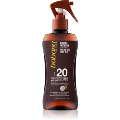 huile solaire SPF 20