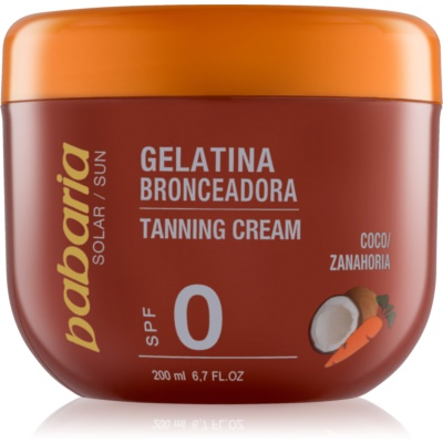 Suntan Accelerating Gel With Coconut And Carrots