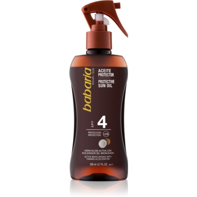 Babaria Sun Bronceadora Body Oil Spray for Tan Enhancement