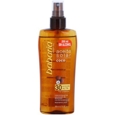 olej na opalování SPF 30