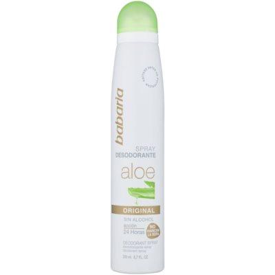 deodorant ve spreji s aloe vera