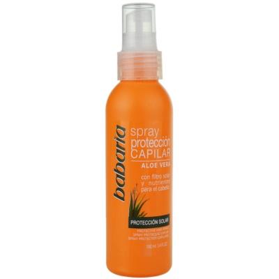 Schützender Spray für von der Sonne überanstrengtes Haar