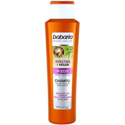 Shampoo für welliges Haar mit Keratin und Arganöl