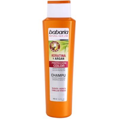 šampon na ochranu barvy s keratinem a arganem