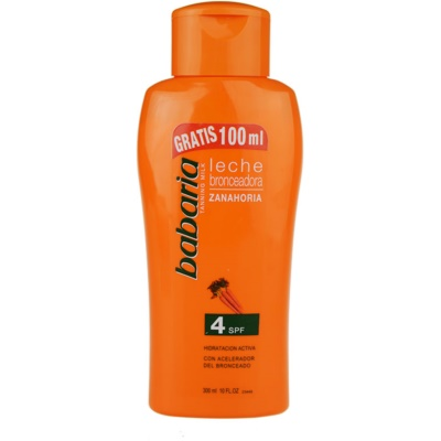 Babaria Sun Bronceador Sun Body Lotion With Carrots