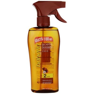 Zonnebrandolie Spray SPF 2