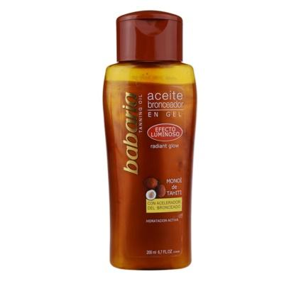 csillogó olaj a napbarnított bőr kiemelésére