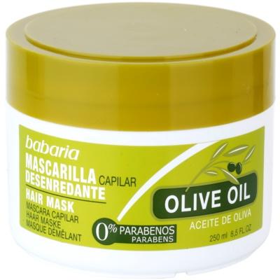 tápláló hajmaszk olívaolajjal