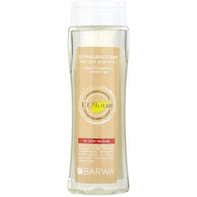 gel de duche para pele sensível