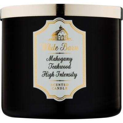 Bath & Body Works White Barn Mahogany Teakwood High Intensity świeczka zapachowa