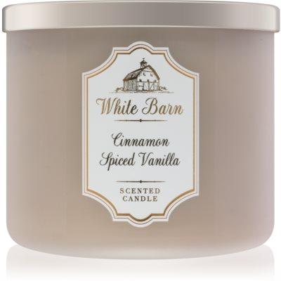 Bath & Body Works White Barn Cinnamon Spiced Vanilla Scented Candle