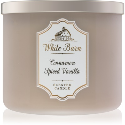 Bath & Body Works White Barn Cinnamon Spiced Vanilla vonná svíčka