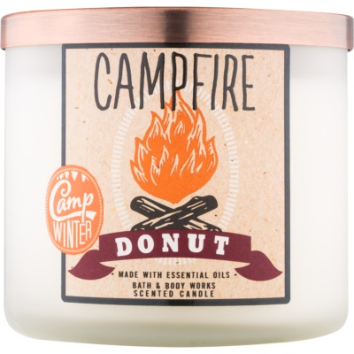 Bath & Body Works Camp Winter Campfire Donut vela perfumada