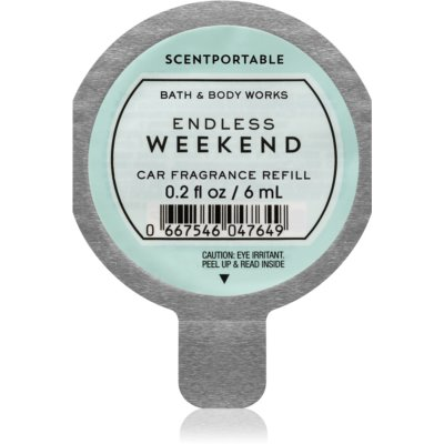 Bath & Body Works Endless Weekend parfum pentru masina Refil 6 ml