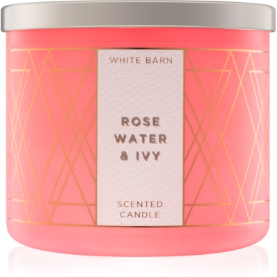 Bath & Body Works Rose Water & Ivy illatos gyertya