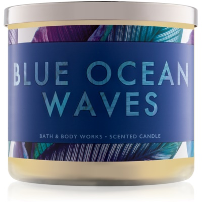 Bath & Body Works Blue Ocean Waves ароматна свещ  411 гр.