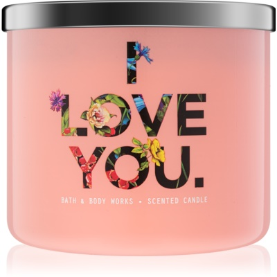 Bath & Body Works Georgia Peach Scented Candle  Limited Edition I Love You