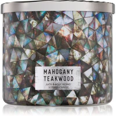 Bath & Body Works White Barn Mahogany Teakwood mirisna svijeća