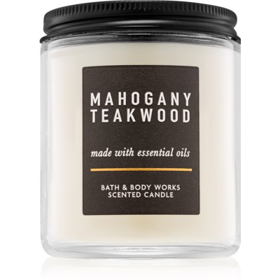 Bath & Body Works Mahogany Teakwood Αρωματικό κερί 198 γρ III.