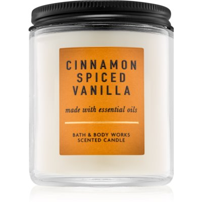 Bath & Body Works Cinnamon Spiced Vanilla lumânare parfumată   I.