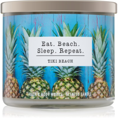 Bath & Body Works Tiki Beach Geurkaars r I. Eat. Beach. Sleep. Repeat.