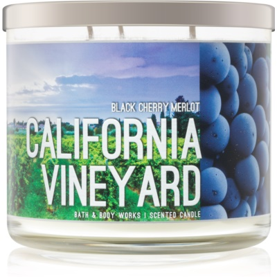 Bath & Body Works Black Cherry Merlot Scented Candle   California Vineyard