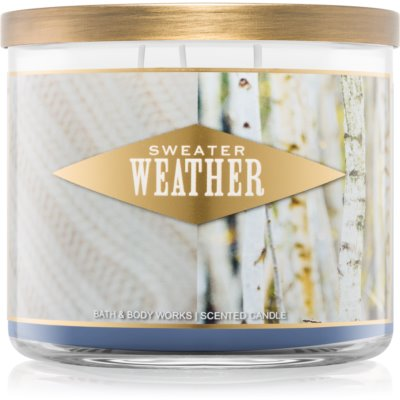 Bath & Body Works Sweater Weather ароматна свещ  411 гр. I.