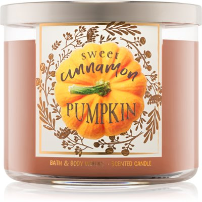 Bath & Body Works Sweet Cinnamon Pumpkin ароматна свещ  411 гр. I.