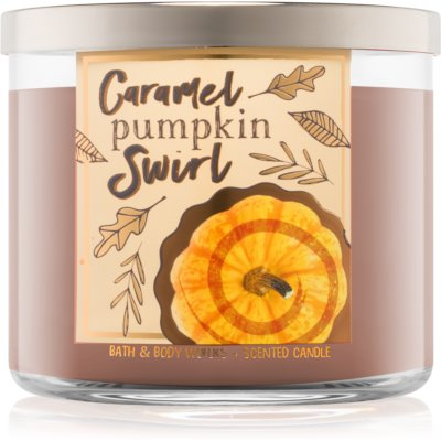 Bath & Body Works Caramel Pumpkin Swirl Scented Candle  I.