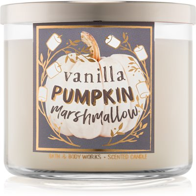 Bath & Body Works Vanilla Pumpkin Marshmallow Scented Candle  I.