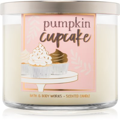 Bath & Body Works Pumpkin Cupcake illatos gyertya