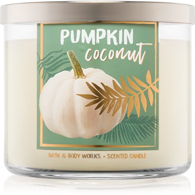 Bath & Body Works Pumpkin Coconut vela perfumado