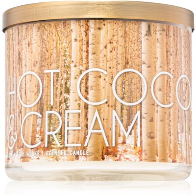 Bath & Body Works Hot Cocoa & Cream vonná sviečka  III.