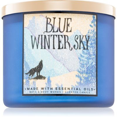 Bath & Body Works Blue Winter Sky vela perfumado Ambientadores para o lar