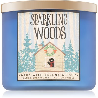 Bath & Body Works Sparkling Woods dišeča sveča