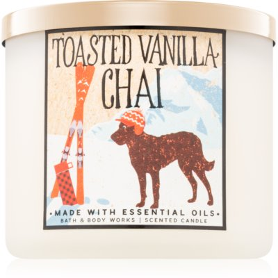 Bath & Body Works Toasted Vanilla Chai vonná svíčka Vůně do bytu