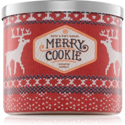 Bath & Body Works Merry Cookie vela perfumada